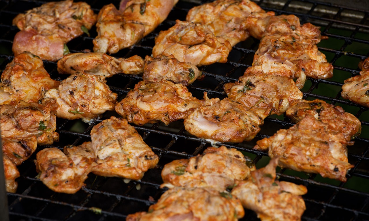 image of barbequed chicken