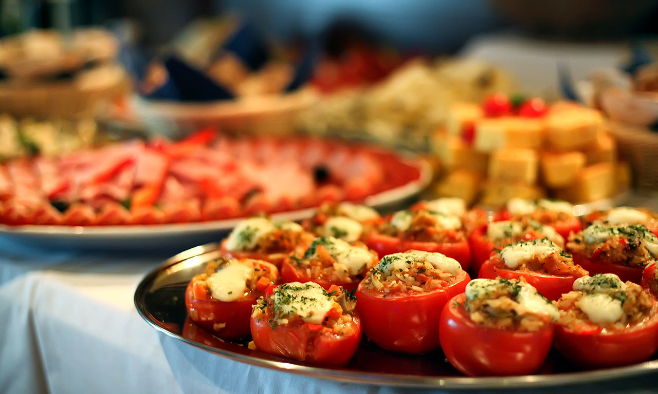 image of Stuffed tomatoes with cheese